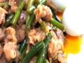 ササッと、肉炒めてお昼にします(*^_^*)